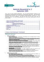 Medische Nieuwsbrief nr. 2 September 2005 - Medimmigrant