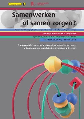 Download de samenvatting - Wetenschapswinkel Geneeskunde en ...