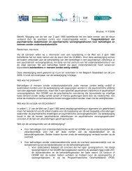 Brussel, 11/7/2006 Betreft: Wijziging van de wet van ... - Medimmigrant