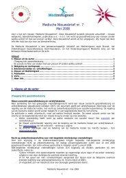 Medische Nieuwsbrief nr. 7 Mei 2008 - Medimmigrant