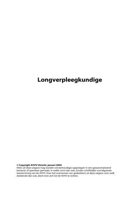 Longverpleegkundige - Verpleegkundigen & Verzorgenden ...