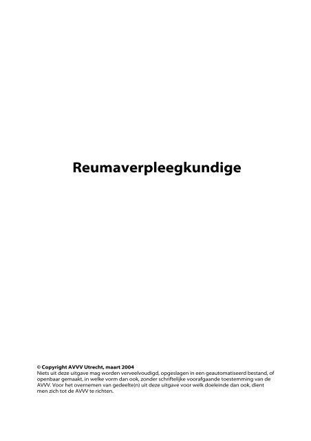 Reumaverpleegkundige - Verpleegkundigen & Verzorgenden ...