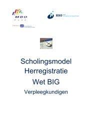 Scholingsmodel Herregistratie Wet BIG - Vereniging Hogescholen