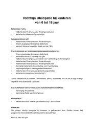 Richtlijn Obstipatie bij kinderen van 0 tot 18 jaar - Verpleegkundigen ...