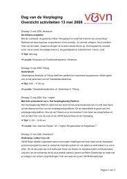 DvdV Activiteiten 13 mei 2008 - Verpleegkundigen & Verzorgenden ...