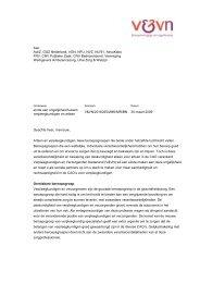 Brief aan sociale partners - Verpleegkundigen & Verzorgenden ...
