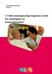 1.1 Stelt verpleegkundige diagnose en stelt het verpleegplan op ...