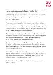 Toespraak Karel van Rosmalen ter gelegenheid van de ... - Zuyd