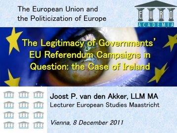 The Legitimacy of Governments EU Referendum Campaigns ... - Zuyd