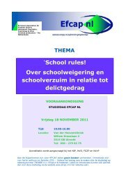 'School rules! Over schoolweigering en schoolverzuim in ... - Efcap-nl