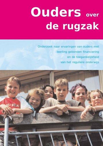 Ouders over de Rugzak - Stichting inclusief onderwijs