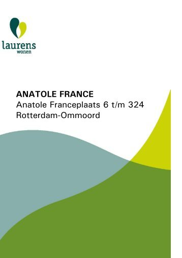 ANATOLE FRANCE Anatole Franceplaats 6 t/m 324 ... - Laurens