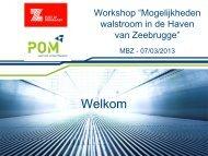 Verwelkoming en inleiding - POM West-Vlaanderen