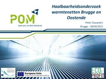 Haalbaarheidsonderzoek warmtenetten Brugge en Oostende Peter ...