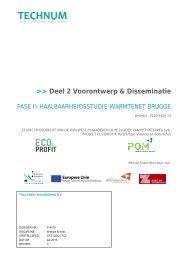 Deel 2 Voorontwerp & Disseminatie - POM West-Vlaanderen