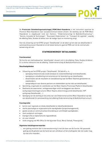 STAFMEDEWERKER 'DETAILHANDEL' - POM West-Vlaanderen