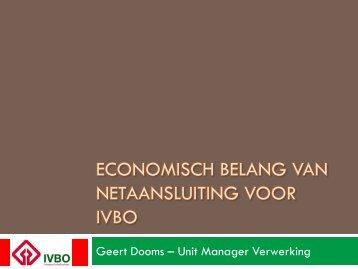 ECONOMISCH BELANG VAN NETAANSLUITING VOOR IVBO