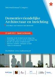 congres Dementievriendelijke Architectuur en Inrichting - StudieArena
