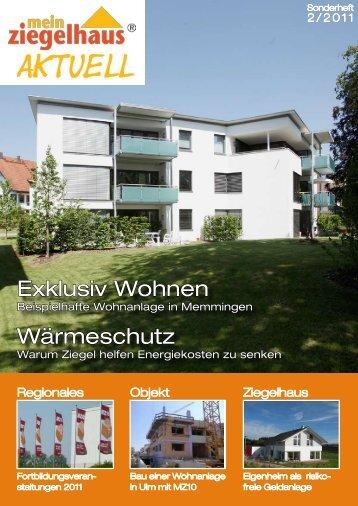 Mein Ziegelhaus Aktuell 02/11 - Adolf Zeller GmbH & Co. Poroton ...