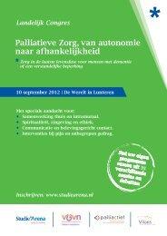 Palliatieve Zorg, van autonomie naar afhankelijkheid - StudieArena