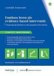 Foutloos leren als evidence based interventie - StudieArena