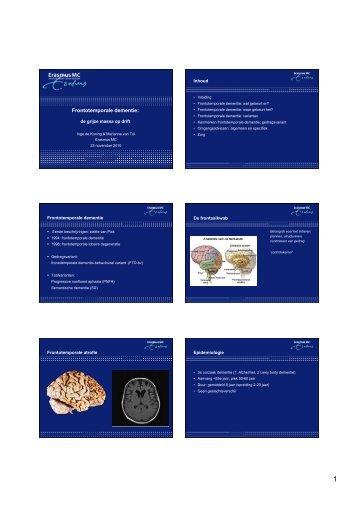 2.7 Frontotemporale dementie - StudieArena