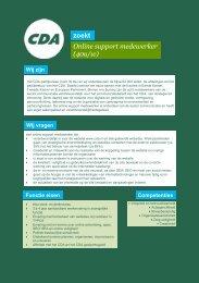 Vacature tekst online support medewerker - CDA