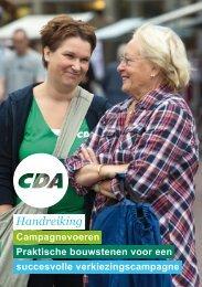 Handreiking Campagnevoeren 2013 - CDA