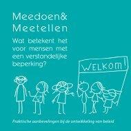 Handreiking Meedoen en Meetellen - Invoering Wmo