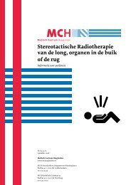 Stereotactische Radiotherapie van de long, organen in de buik of de ...