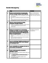 Checklist milieuvergunning Checklist ... - SportServiceDesk