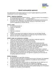 Model huishoudelijk reglement - SportServiceDesk