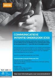 Communicatieve intentie Onderzoek - Testweb