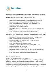 Routebeschrijving naar Kenniscentrum CrossOver (Schouwstede 1 ...