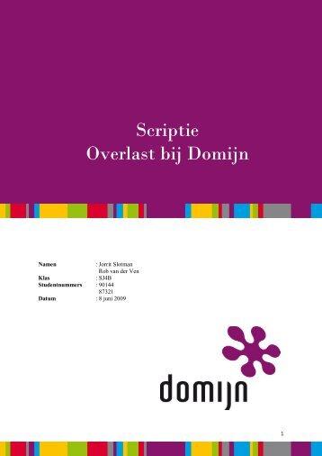 Scriptie Overlast bij Domijn - WifiHw.nl