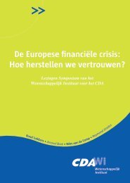 De Europese financiële crisis: Hoe herstellen we vertrouwen? - CDA