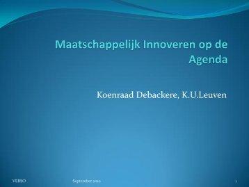 Presentatie Koenraad Debackere - Verso