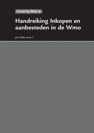 Handreiking Inkopen en aanbesteden in de WMO - Eerste Kamer ...