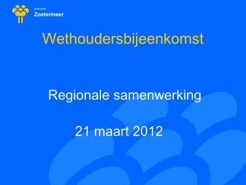 vng wethoudersbijeenkomst 21 maart 2012 - Invoering Wmo