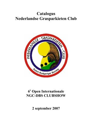 Catalogus (pdf) - Nederlandse Grasparkieten Club