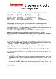 Alliantiedagen 2013 - Stichting CliP