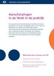 Aanscherpingen in de Wwb in de praktijk - Stichting CliP