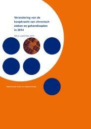 Nibud-rapport Koopkracht chronisch zieken 2014 - CG-Raad