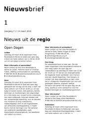 Nieuwsbrief Visio Revalidatie & Advies in Zuidwest-Nederland van ...