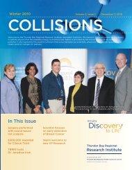 Collisions Newsletter: Winter 2010, Volume 1, Issue 2 (PDF)