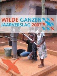 Jaarverslag Wilde Ganzen 2007