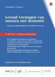Lerend vermogen van mensen met dementie - Zorg voor innoveren