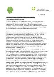Vollständiger Pressetext - Kompetenznetzwerk Stammzellforschung ...