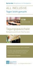 Tagungspauschale - Karlsruhe   Kongress