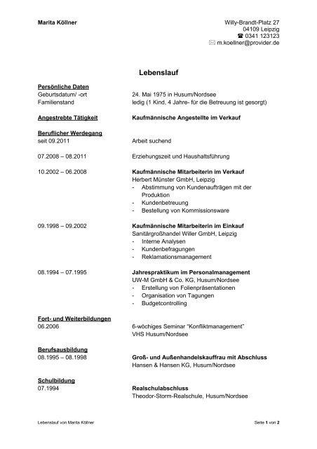 Pdf Dokument Muster Lebenslauf Snappler Karriereblog